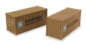 "Bachmann 36-126 20ft Containers ""Maersk Sealand"" (x2)"